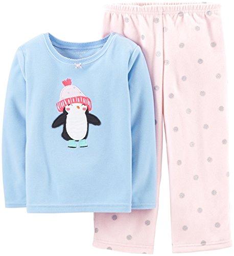 Carter's Baby Girls' 2 Piece Fleece PJ Set (Baby) – Penguin – 24 ...