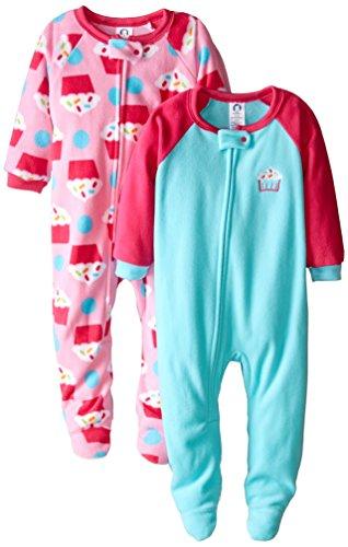 09d1af4e8 Gerber Baby-Girls Newborn 2 Pack Blanket Sleepers, Cupcake, 18 Months