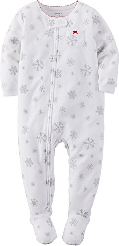 e68f6c17c Carters Baby Girls Fleece Snowflake Sleep   Play 12 Month White ...
