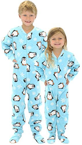 SleepytimePjs Kids Fun Printed Footed Fleece One Piece Pajamas ...