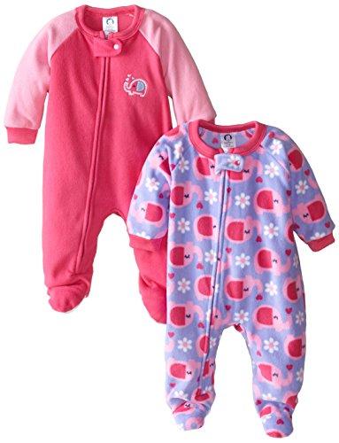 58ca4e7c7b Gerber Baby-Girls Newborn 2 Pack Blanket Sleepers