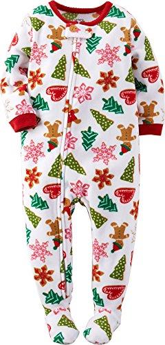 4a25d5345 Carter s Baby Girls  1-Piece Fleece Christmas PJs (18 Months