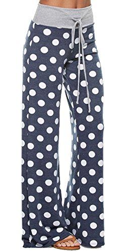 c7a3c9838eb Marilyn   Main Women s Comfy Soft Stretch Floral Polka Dot Pajama Pants  (Large