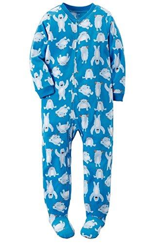 06e5ffd7fa21 Carter s Big-boys  1 Pc Micro Fleece Footed Blanket Sleeper Pajamas ...