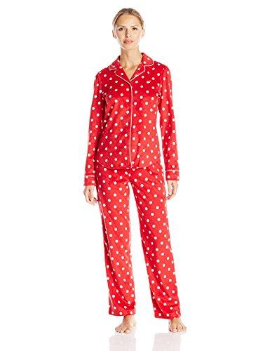 Nautica Sleepwear Women s Fleece Dot Print Pajama Set d08091c21e21