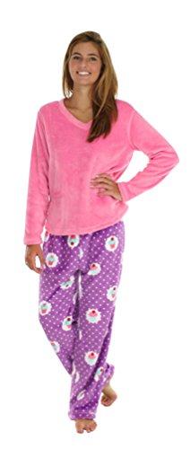 Pajamamania Fleece Pajama Sets Cupcakes Med Fleece