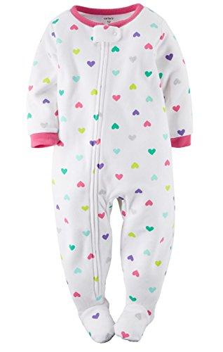 95aad8ec5f Carter s Baby-Girls 1-pc Fleece Footed Sleeper Pajamas (12 Months ...