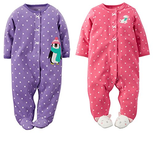 6c246b316f0c Carter s Baby Girls Fleece Pajamas Two Piece Set 3-9 months (9 ...