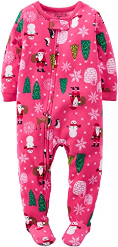 Carter s Baby Girls  1-Piece Fleece Christmas PJs (18 Months 0f426b0ea