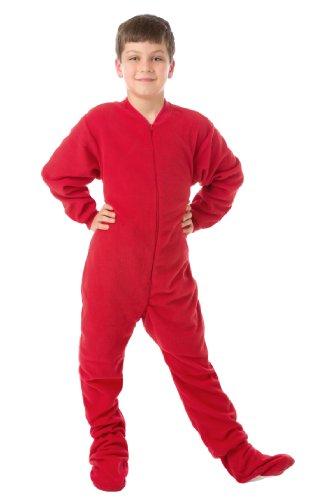 16090a7c13 Kids Red Fleece Boys   Girls Footed Pajamas Onesie