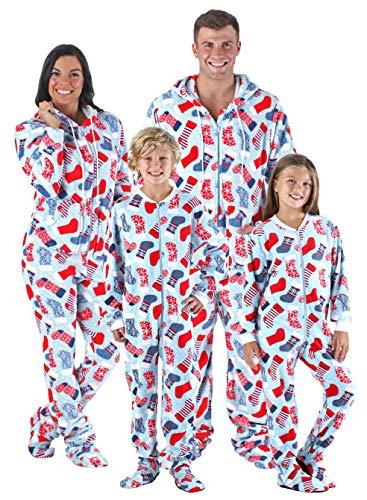 8e14d7bf51 SleepytimePjs Family Matching Sleepwear Stockings Onesie Footed Pajamas PJs  Sets