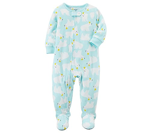 2178baba7173 Carter s Baby Girls  12M-4T One Piece Fleece Polar Bear Pajamas ...