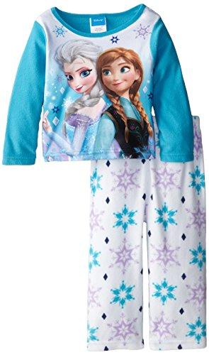 05dfc714ed4 Disney Little Girls  Toddler Frozen Anna and Elsa Cozy Fleece Pajama ...
