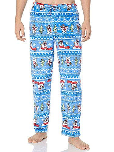 a0110d0a58b9 Frosty the Snowman Men s Fleece Holiday Christmas Lounge Pajama ...
