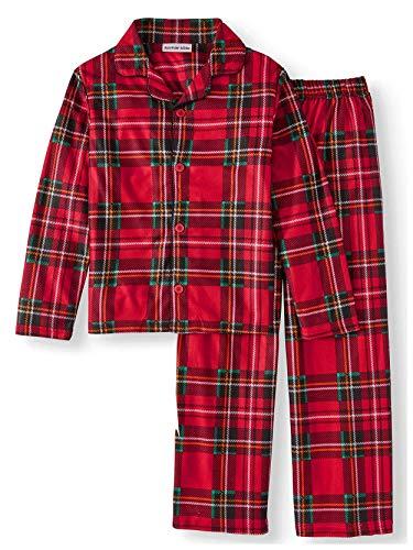 ee79e6e3c033 Komar Kids Boys Traditional Holiday Christmas Plaid Coat Style ...